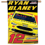 "Ryan Blaney #12 NASCAR 28"" x 40"" Vertical Flag"