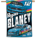"Ryan Blaney NASCAR 28"" x 40"" Vertical Flag"