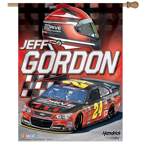 "Jeff Gordon NASCAR 27"" x 37"" Vertical Flag"