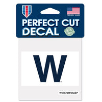 "Chicago Cubs MLB 4"" x 4"" Perfect Cut Decal - Cubs Win Flag"