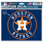 "Houston Astros MLB 4.5"" x 5.75"" Cut-to-Logo Multi-Use Decal - Name"