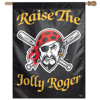 "Pittsburgh Pirates MLB Raise The Jolly Roger 27"" x 37"" Vertical Flag"