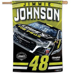 "Jimmie Johnson #48 Lowe's NASCAR 28"" x 40"" Vertical Flag"