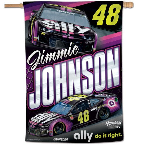 "Jimmie Johnson NASCAR 28"" x 40"" Vertical Flag"