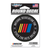 "3"" Round NASCAR Logo Decal"