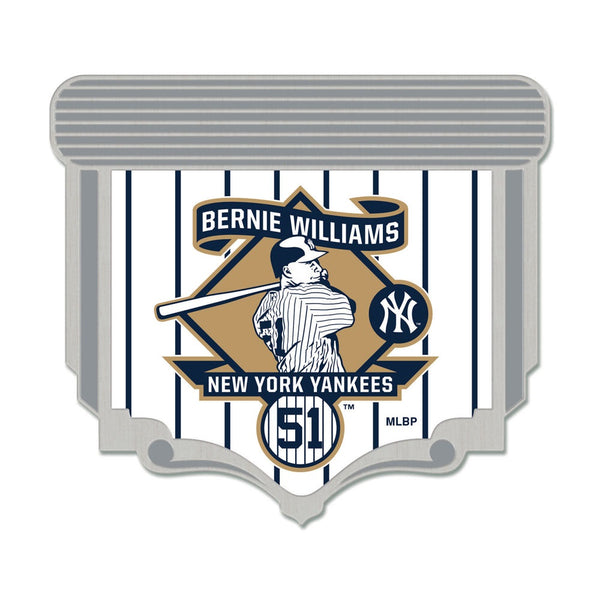 New York Yankees MLB Collectible Pin - Bernie Williams Retirement