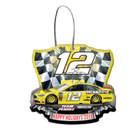 Ryan Blaney NASCAR 2018 Dated Acrylic Ornament
