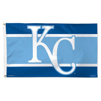 Kansas City Royals MLB Team Logo 3' x 5' Single-Sided Deluxe Flag - Stripe