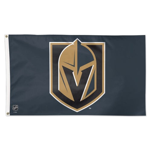 Vegas Golden Knights NHL 3' x 5' Single-Sided Deluxe Flag - Team Color Background