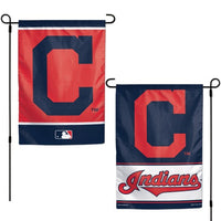 "Cleveland Indians MLB 12.5"" x 18"" 2-Sided Garden Flag - Name/Logo"