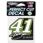 "Kurt Busch #41 4"" x 4"" NASCAR Perfect Cut Decal"