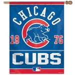 "Chicago Cubs MLB 27"" x 37"" Vertical Flag - Year Established"