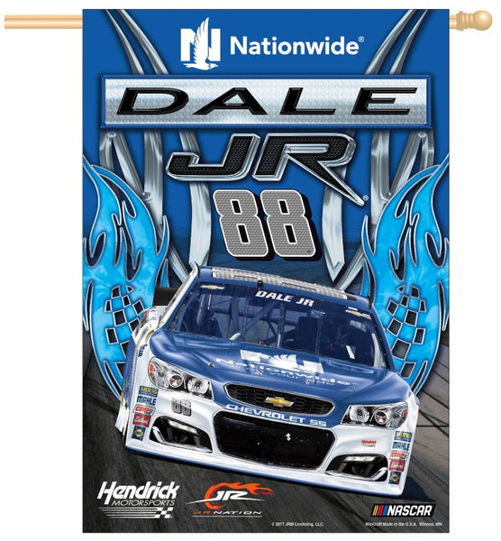 "Dale Earnhardt Jr NASCAR 28"" x 40"" Vertical Flag - Flames Design"
