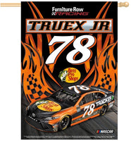 "Martin Truex Jr NASCAR 28"" x 40"" Vertical Flag - Flames Design"