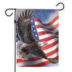 "Support America Patriotic 12"" x 18"" Garden Flag - American Eagle"