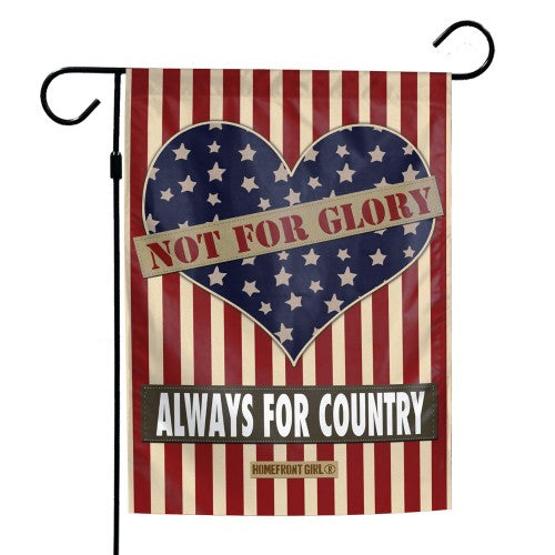 "Support America Patriotic 12"" x 18"" Garden Flag - Not for Glory Always for Country"