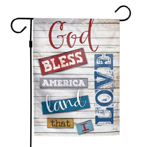 "Support America Patriotic 12"" x 18"" Garden Flag - God Bless America"