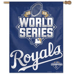 "Kansas City Royals MLB 27"" x 37"" Vertical Flag - 2015 World Series Participant"