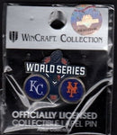 2015 World Series MLB Collectible Pin - Kansas City Royals vs New York Mets