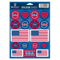 "Support America Patriotic 5"" x 7"" Vinyl Sticker Sheet"
