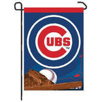 "Chicago Cubs MLB 11"" x 15"" Garden Flag - Ball and Glove"