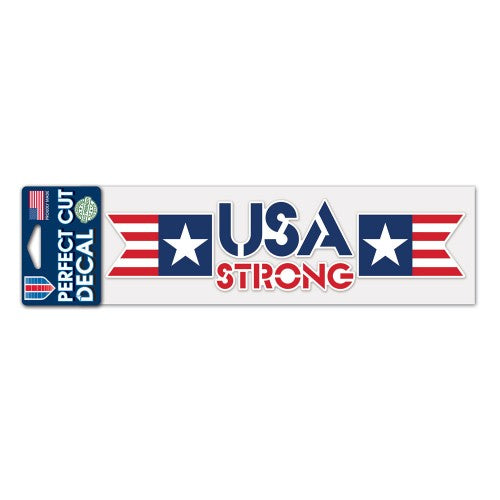 "Support America Patriotic 3"" x 10"" Perfect Cut Decal - USA Strong"
