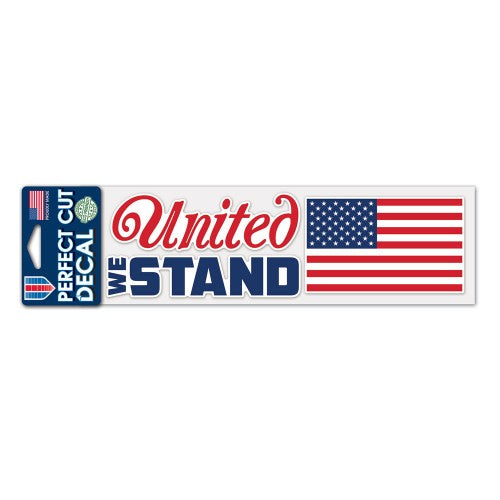 "Support America Patriotic 3"" x 10"" Perfect Cut Decal - United We Stand"