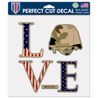 "Support America Patriotic 8"" x 8"" Perfect Cut Decal - Love My Soldier"