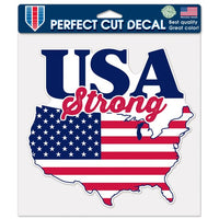 "Support America Patriotic 8"" x 8"" Perfect Cut Decal - USA Strong"