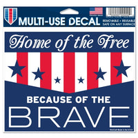 "Support America Patriotic 4.5"" x 5.75"" Multi-Use Decal - Home of the Free"