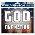 "Support America Patriotic 4.5"" x 5.75"" Multi-Use Decal - One Nation Under God"