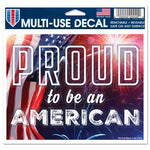 "Support America Patriotic 4.5"" x 5.75"" Multi-Use Decal - Proud To Be An American"