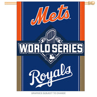 "New York Mets/Kansas City Royals MLB 2015 World Series 'Dueling' 27"" x 37"" Vertical Flag"