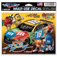 "Kyle Busch NASCAR 4.5"" x 5.5"" Multi Use Decal - Color Car Image"