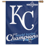 "Kansas City Royals MLB 27"" x 37"" Vertical Flag - 2015 World Series Champions"