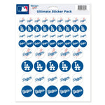 "Los Angeles Dodgers MLB 8.5"" x 11"" Vinyl Sticker Decal Sheet"