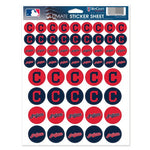 "Cleveland Indians MLB 8.5"" x 11"" Vinyl Sticker Decal Sheet"