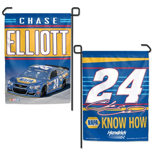 "Chase Elliott #24 NASCAR Logo Double-Sided 12"" x 18"" Garden Flag"