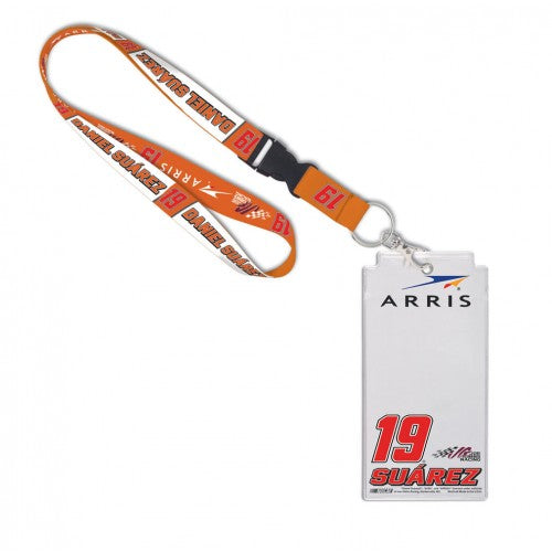 Daniel Suarez NASCAR #19 Arris Credential Holder with Lanyard