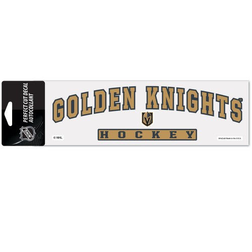 "Vegas Golden Knights NHL 3"" x 10"" Perfect Cut Color Decal - Arched Design"