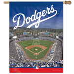 "Los Angeles Dodgers MLB 27"" x 37"" Vertical Flag - Dodger Stadium"