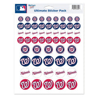 "Washington Nationals MLB 8.5"" x 11"" Vinyl Sticker Decal Sheet"