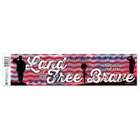 "Support USA Patriotic 3"" x 12"" Bumper Strip - PRE-ORDER, Secure Yours Now!"