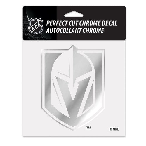 "Vegas Golden Knights NHL 6"" x 6"" Perfect Cut Shiny Chrome Decal"