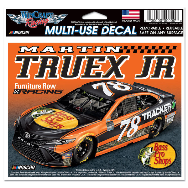 "Martin Truex Jr #78 NASCAR 4.5"" x 5.5"" Multi Use Decal - Color Car Image"