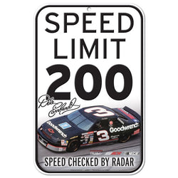 NASCAR Speed Limit 200 11 x 17 Plastic Sign