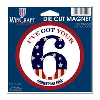 "Support America Patriotic 4"" Round Magnet - I've Got Your 6"
