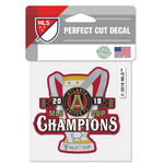 "Atlanta United FC MLS 4"" x 4"" Perfect Cut Decal - 2018 MLS Cup Champions"