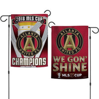 "Atlanta United FC MLS Double-Sided 12"" x 18"" Garden Flag - 2018 MLS Cup Champions"