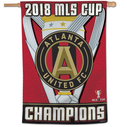 "Atlanta United FC MLS 28"" x 40"" Vertical Flag - 2018 MLS Cup Champions"